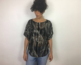 Sheer silk glam top
