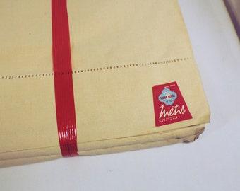 Metis linen sheet, unused, with hand drawn ladder work