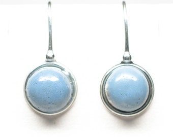 Leland Blue Antique Sterling Silver 10 mm Round Earrings