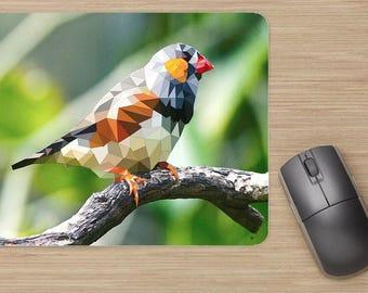 tapis de souris, oiseau, ordinateur, souris, matériel de bureau