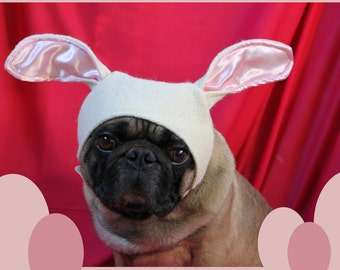 Easter Bunny Hat: Dog Hat, Dog Bunny Ears, Rabbit Costume Dog, Easter Dog Clothes, Bunny Hat Ears for Dogs, Easter Dog Costumes, Pug, Xmas
