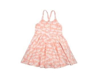 ORGANIC Festival Dress, Girls Dress, Baby Dress, Toddler Dress, Beach Dress, Summer Dress, Twirling Dress, Bird Dress, Sweetling Swan