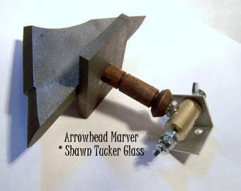 Glassblowing Tool - MADE TO ORDER Arrowhead Marver - Graphite Plate for Beadmaking Lampworking and Glassblowing