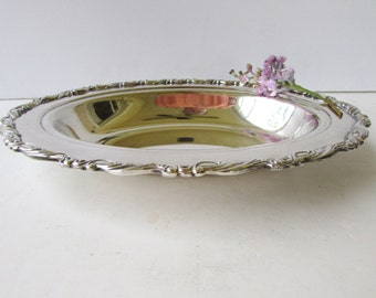 Antique SilverPlate Bowl -Oneida Silver Co - Marked - Elegant Silver Serving Oval Bowl - Silver Serving Bowl -