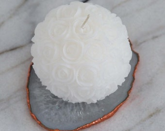 Rose Carved Ball Candle