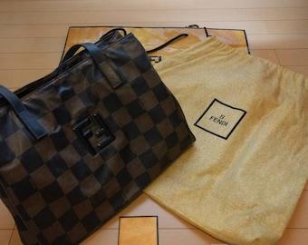 Fendi canvas shoulder bag  vtg