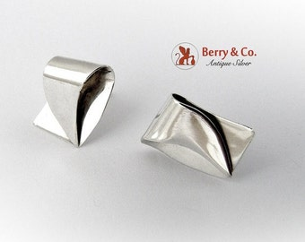 SaLe! sALe! Modernist earrings Sterling Silver