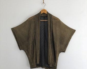 Vintage 80's Gold and Black Mesh Cardigan Jacket