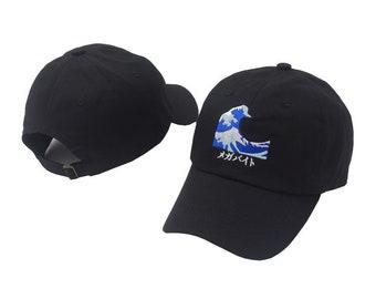 Black Wavey Baseball Cap