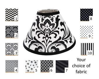 Small lampshade etsy black and white lamp shade your choice of size and pattern free shipping in aloadofball Gallery