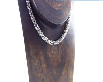 Steel Chain Collar / Anklet / Bracelet - Unisex - Custom Length - Made to Order - Vanilla Clasp