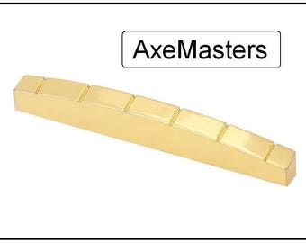 AxeMasters BRASS SLOTTED NUT for Fender Style Guitar Strat Telecaster Copies