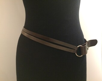 Strap leather belt