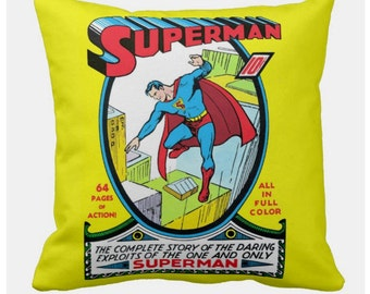 First Superman Comic Cushion