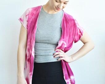 Natural Dye Spring Cardigan-Short Sleeve