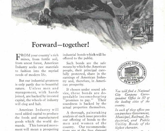 National City Company Bank ad from 1919 (July edition of National Geographic)