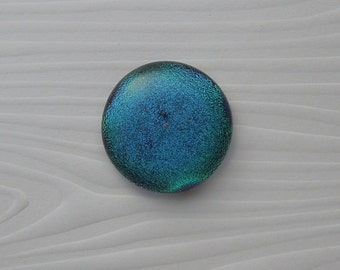 Dichroic Fused Glass Cabochon - Gem Stone - Cabochon Cab - Bead Supply- Glass Bead - Wire  - Jewelry Making - Stained Glass 5628