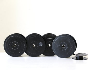 Set of vintage film reels/vintage film spools/ photographic props/ quirky industrial decor/ masculine gift for him/ SET of 5