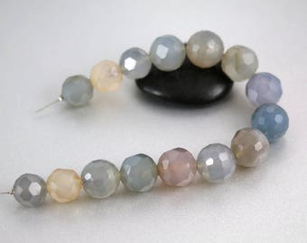Blue Agate Beads - Natural Color - Blue Agate - 12-14mm