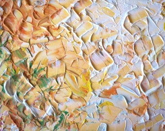"PEACH - Original Modern Abstract Wall Decor Painting, size: 9"" X 11"" (24 x 30 cm)"