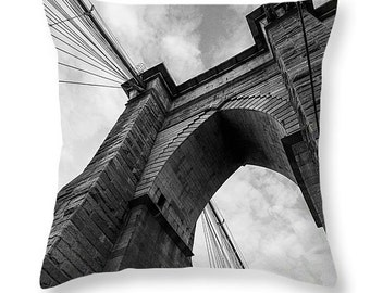 brooklyn pillow, new york pillow, black and white pillow, new york decor, brooklyn decor, black and white decor, throw pillow, home decor