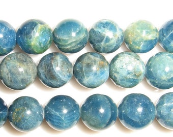 10mm Round Apatite Beads Genuine Natural 8120 15''L Semiprecious Gemstone Bead Wholesale Beads Supply
