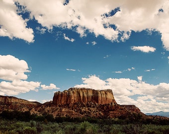 New Mexico  photo,Ghost Ranch Landscape clouds blue sky Southwest Photography Travel