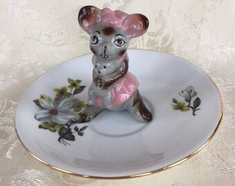 Super Cute Mouse Ring Holder Dish Jewellery Dish