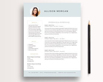 Resume Template 3 Page / CV Template + Cover Letter / Professional Resume /  Instant Download