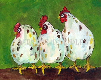 CHICKEN PRINT,farm art,chicken painting,farm painting,chicken art,chicken wall decor,chicken art print