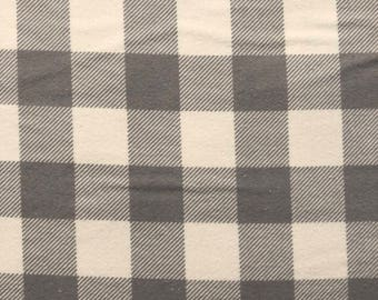 Essentially Yours by Moda Fabrics Buffalo Check Flannels in Gray