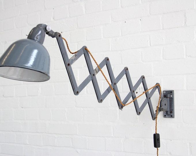 Industrial Scissor Lamp By Siemens Circa 1930s