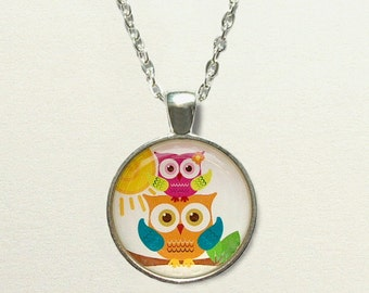 Owl Necklace jewelry, owl jewelry, owl pendant necklace, owl gifts, owl accessories, childrens jewelry little girls, owl birthday gift