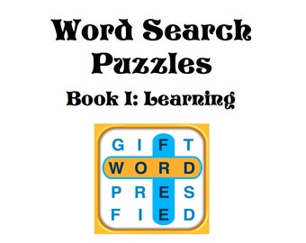 Educational Word Search Puzzle Book PDF Instant Download