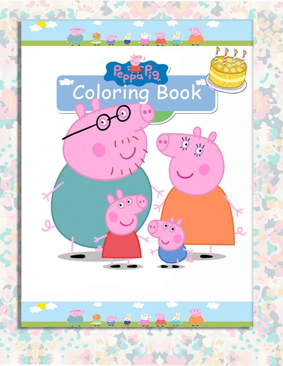 Peppa Pig Party favor mini Coloring Book - Instant Download ...