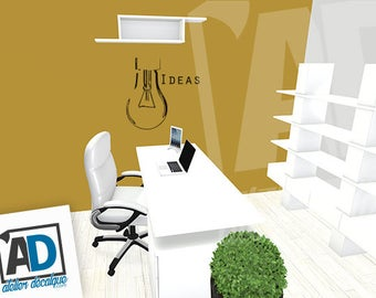 Wall sticker R-014 bulb ideas (english version)