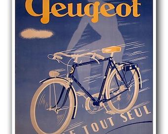 Vintage Bicycling Art Cycling Bike Print Biking Sports Poster (H367)