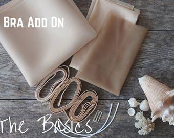 Swimwear Basic! Bra Add-On! Everything you need to add a foam bra into your Swimsuit!