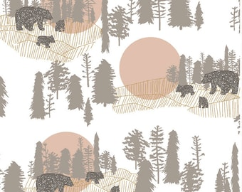 Woodlands Baby Bedding Fitted Crib Sheets /Changing Pad Covers / BLOOM ALMA Mini Crib Sheets Etsy Nursery Bedding / Bear Nursery Bedding Set