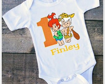 Pebbles And Bam Bam Birthday Tee Shirt or Bodysuit; Bodysuit size 6-24 Month;Tee 2T and up