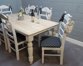 6FT Shabby Chic table set