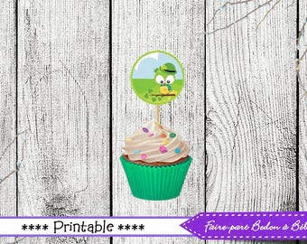 St-Patrick Cupcake Topper - Cupcake topper - St-Patrick Party Printable - Toppers - St-Patrick - St-Patrick printable - INSTANT DOWNLOAD