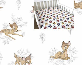 Bambi Fitted Crib Sheet Bambi Nursery Bambi Toddler Bedding Sheet Flat Sheet Changing Pad Cover Mini Crib Twin Full Queen Fitted Sheet