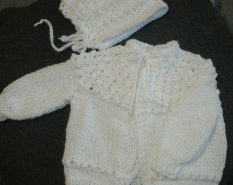 "Baby Sweater Set - ""Sweet Baby"""
