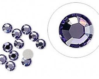 Tanzanite Swarovski Crystal Flat Back Non hotfix