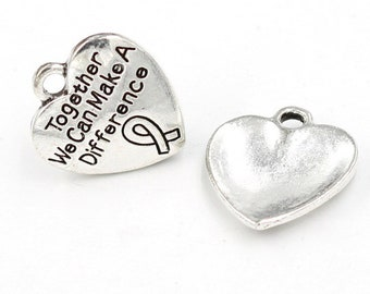 Together we can make a difference charm
