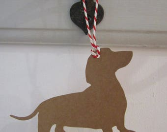 Dachshund Gift Tag/Christmas - PACK OF FIVE