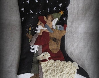 Light of the World Stocking PRINTED PATTERN by cheswickcompany