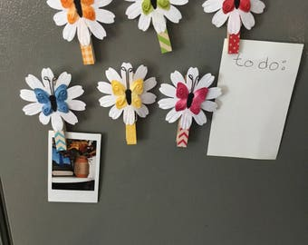 Clothespin magnets set of 6