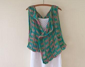 Crochet Pattern - Crochet Vest Pattern Spring Cover Up Pattern Vest Pattern Easy Crochet Pattern Sweater Pattern - Spring Breeze P186